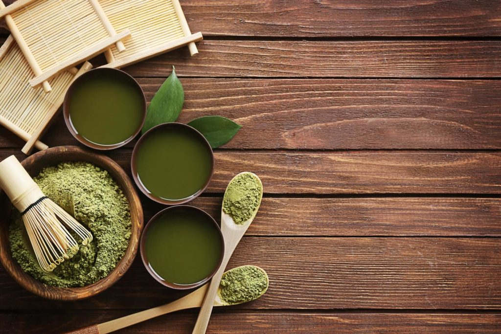 tea leaves and tea cups