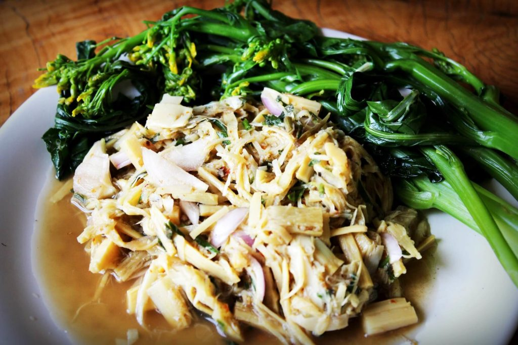 vegetable stir fry with bamboo shoots